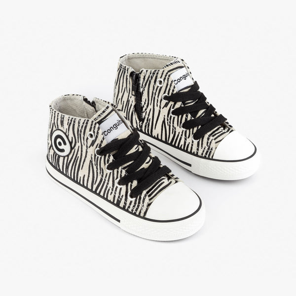 Girl's Zebra Print Fured Boots