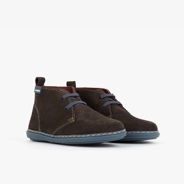 Boy's Grey Suede Safari Boots