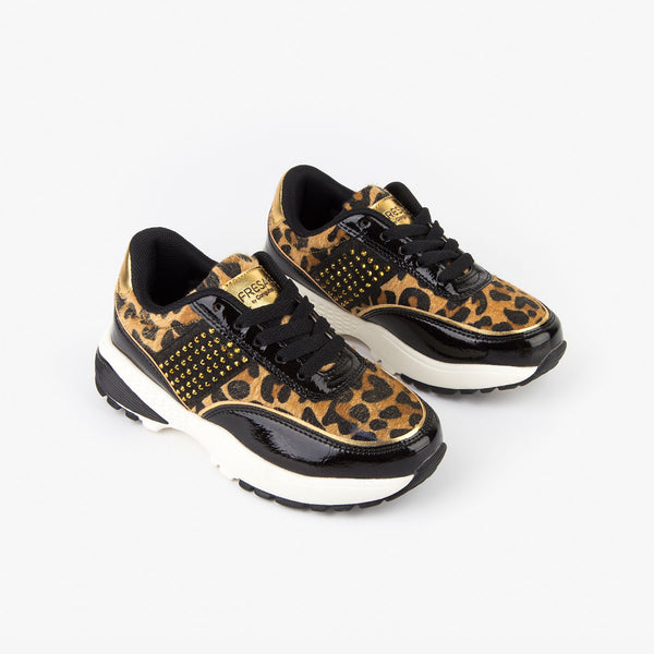 Girl's Leopard Sneakers