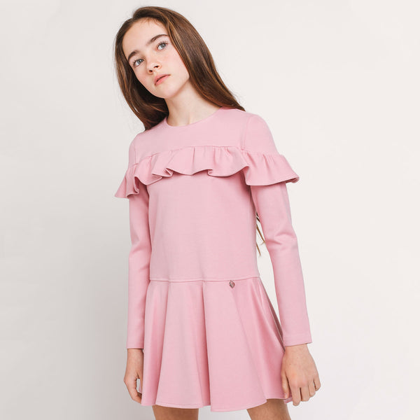 Girl Dress Pink Ruffles
