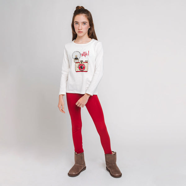 Girl's Red Leggins