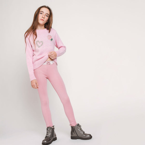 Girl's Pink Leggings
