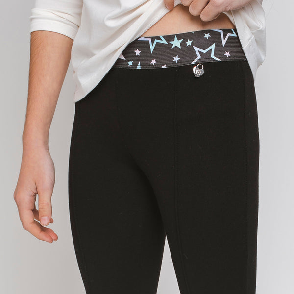 Girl's Black Leggings