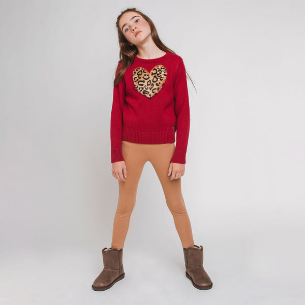 Girl's Camel Leggings
