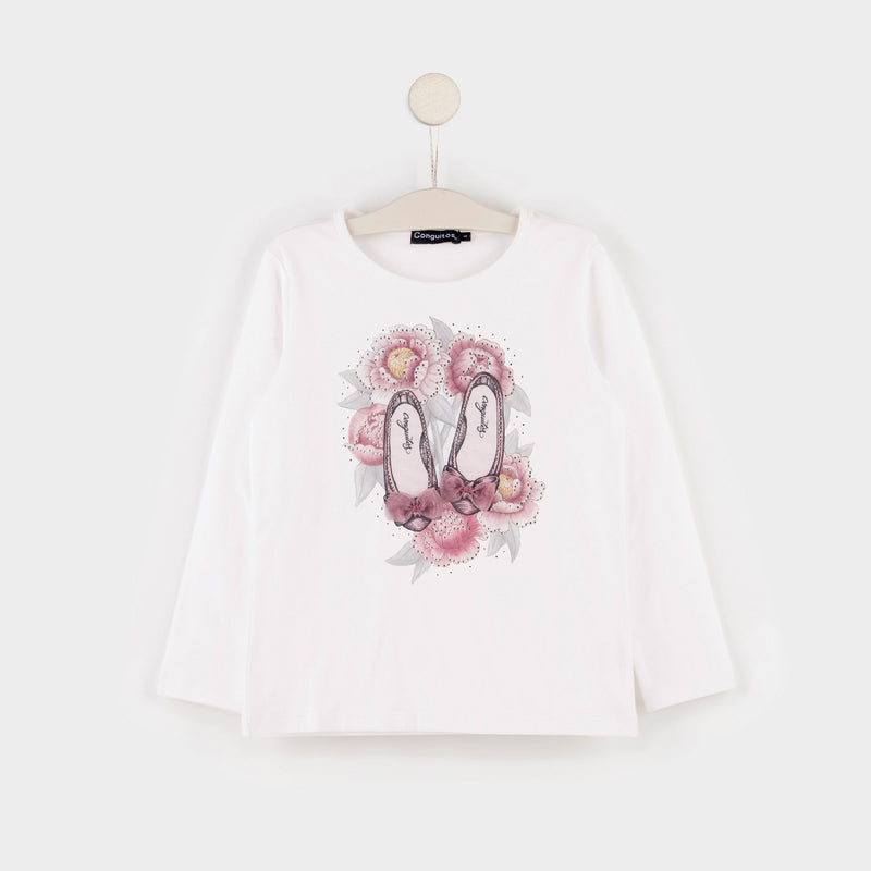 "Girl's ""Ballerinas"" Cotton T-shirt"
