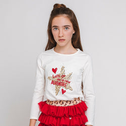 Girl's Glitter Star Shirt