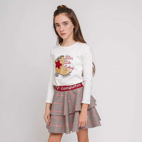 Girl T-shirt with light Boots
