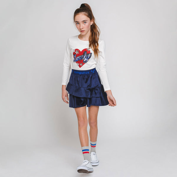 "Girl's ""Lovely Heart"" T-shirt"