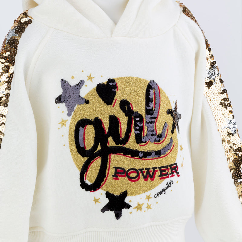 Girl's Gold Sequins Sweatshirt