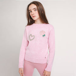Girl's Pink Flowers Jersey