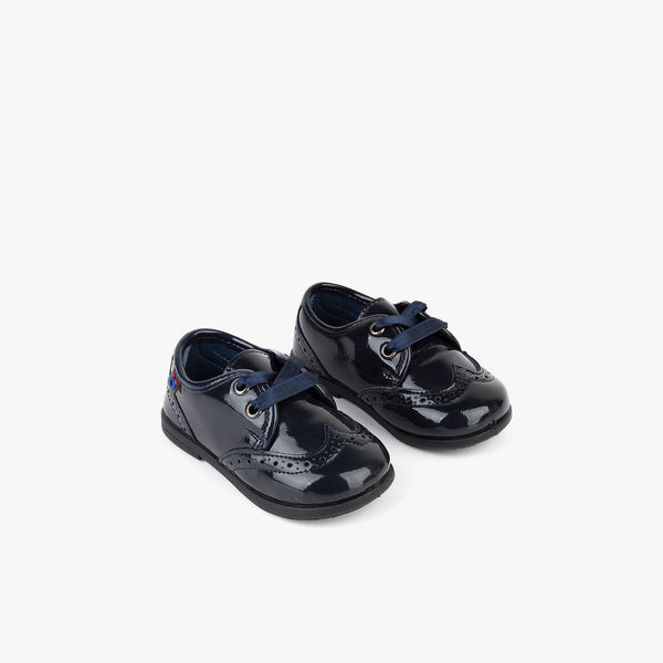 Baby's Navy Patent Leather Booties