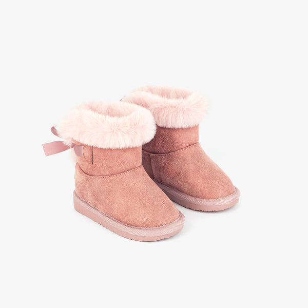 Baby's Pink Australian Boots with Bow
