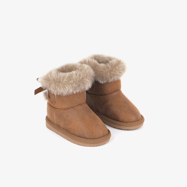 Baby's Camel Australian Boots with Bow