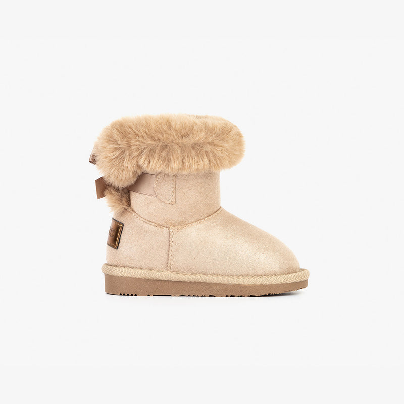 Baby's Taupe Bow Australian Boots