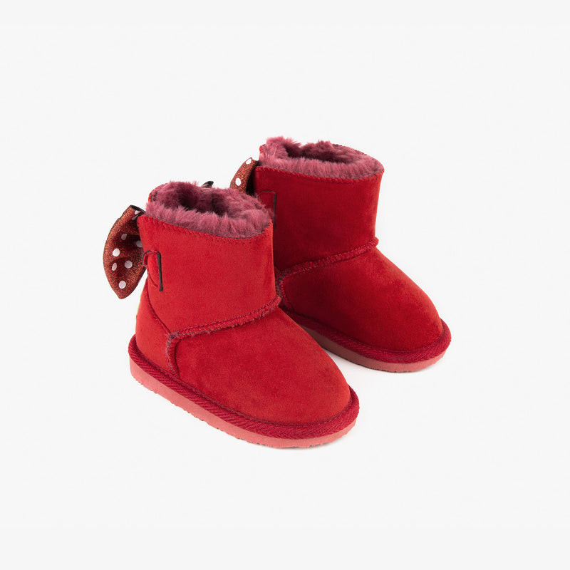 Baby's Red Bow Australian Boots