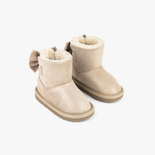 Baby's Metallized Taupe Australian Boots