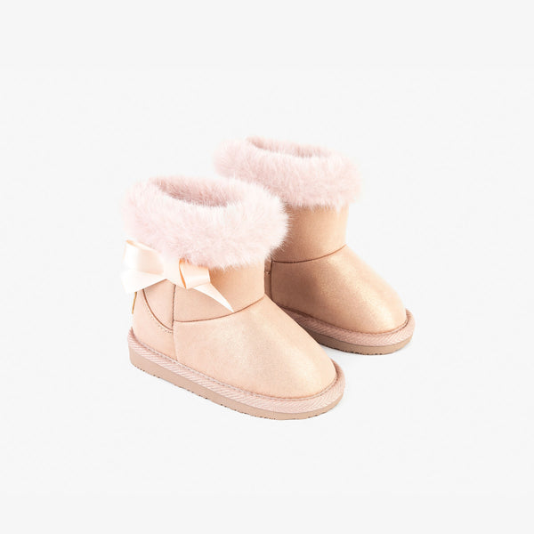 Baby's Metalized Pink Australian Boots