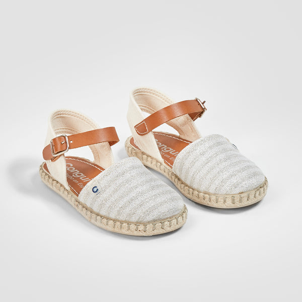 Girl's Silver Stripes Sandals
