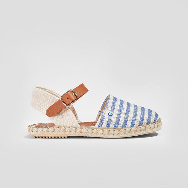 Girl's Blue Stripes Sandals