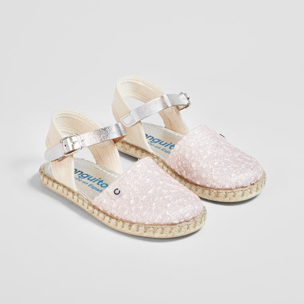 Girl's White Embroidery Sandals