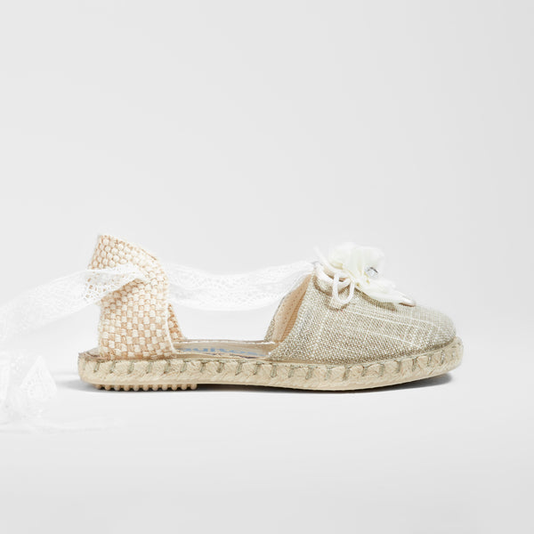 Girl's Beige Espadrilles Sandals