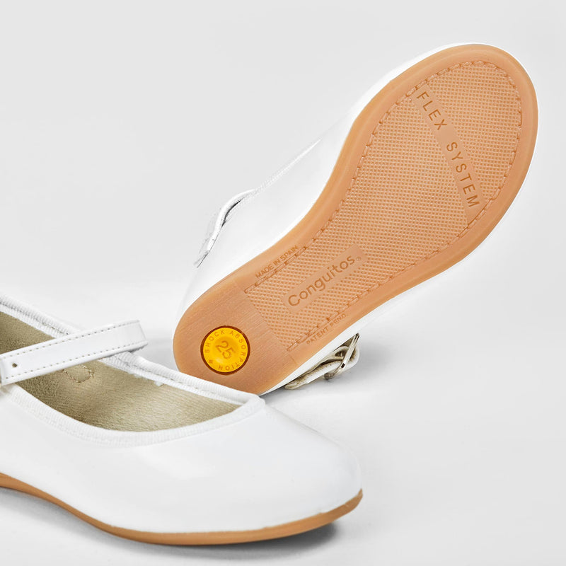 Girl's White Patent Leather Mary Jane