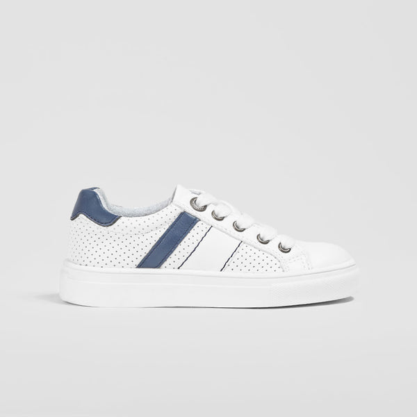 Boys White Bands Sneakers