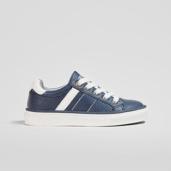 Boys Navy Bands Sneakers