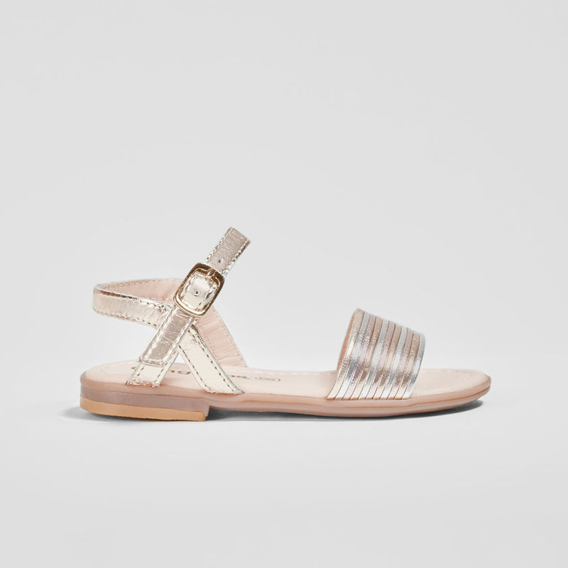 Girl's Multi Metallic Leather Sandals