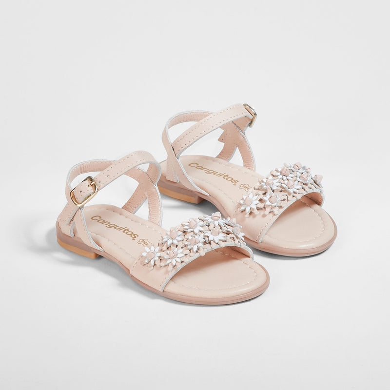 Girl's Makeup Pink Flowers Sandals