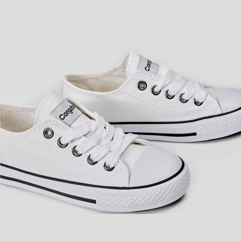 Unisex Canvas White Sneakers
