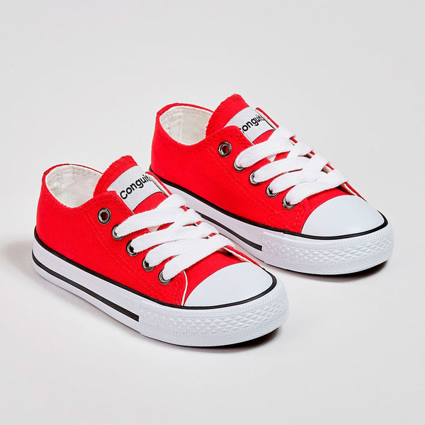 Unisex Red Canvas Sneakers