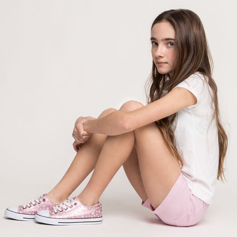 Girl's Pink Star Sneakers