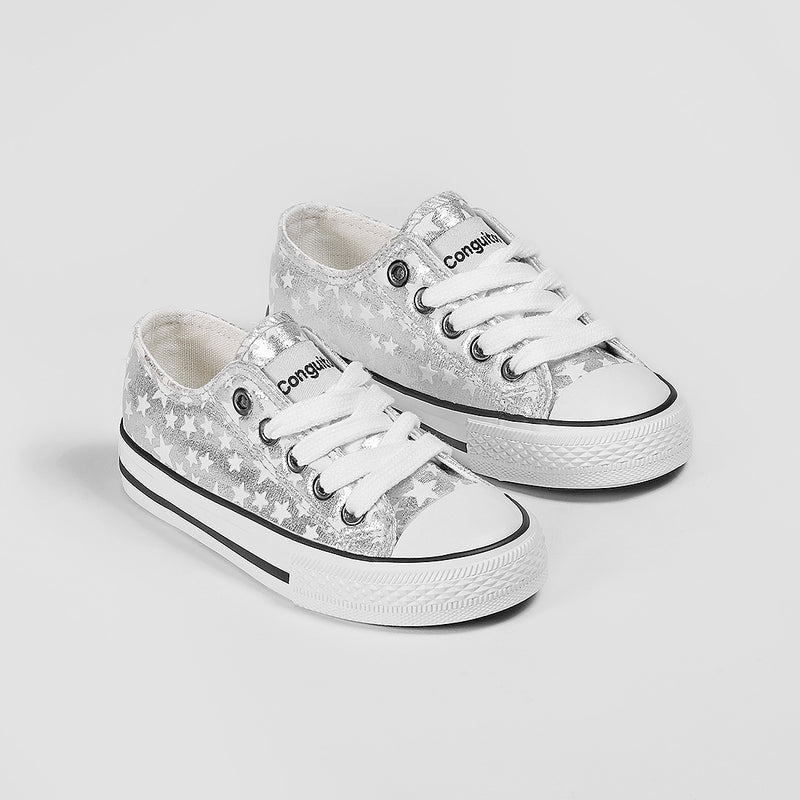 Unisex Silver Stars Sneakers