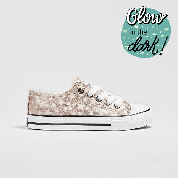 Girl's Platinum Star Sneakers