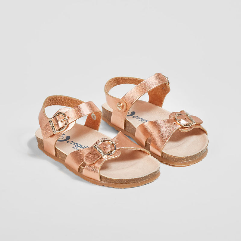 Girl's Metallic Pink Bio Sandals