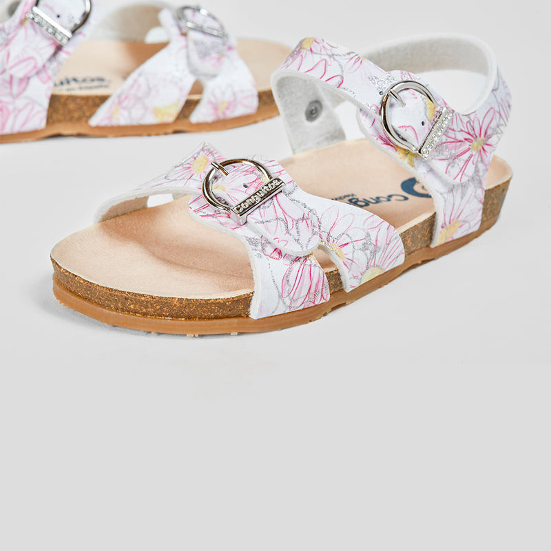 Girl's Pink Flowers Bio Sandals