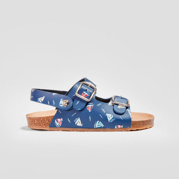 "Boys ""Boats"" Navy Bio Sandals"