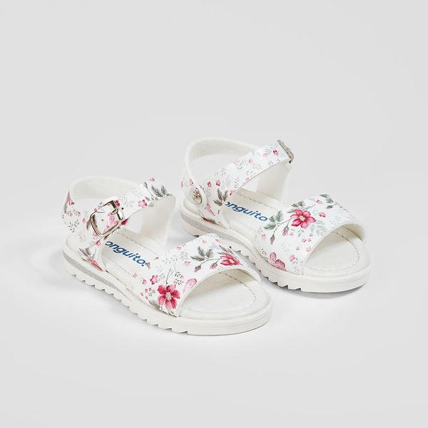 Girl's Flower Printed Sandals