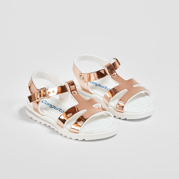 Girl's Magnesium Mirror Sandals
