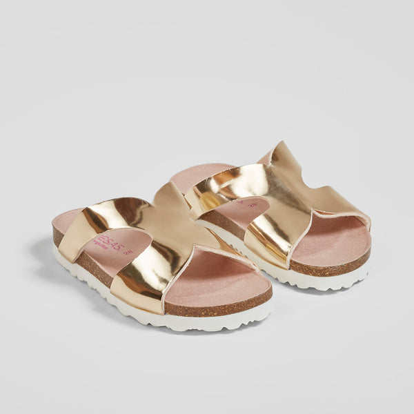Girl's Gold Mirror Sandals