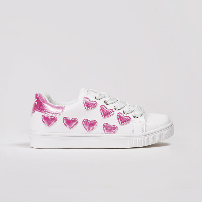 Girl's Solar Hearts Colour Changing Sneakers