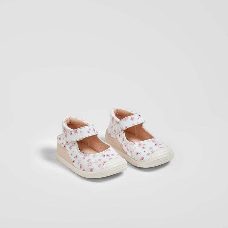 Baby's Pink Flowers Print onMicro® Mary Janes