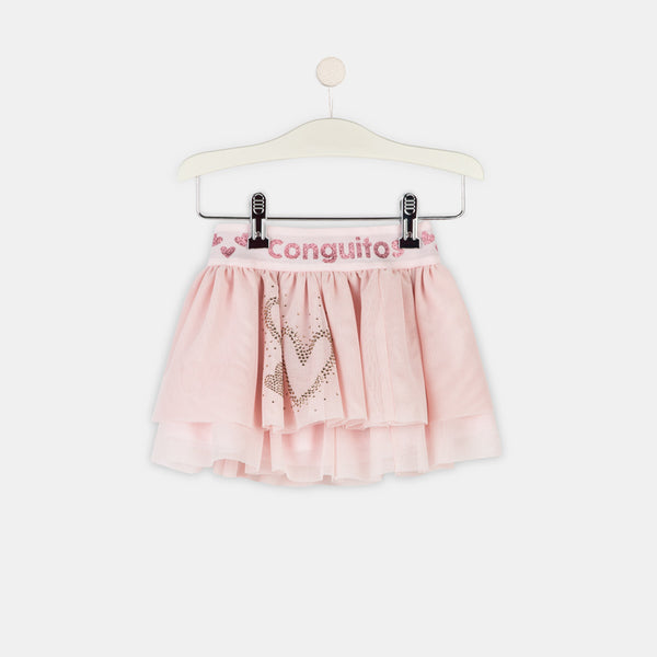Girls Pink Tulle Skirt