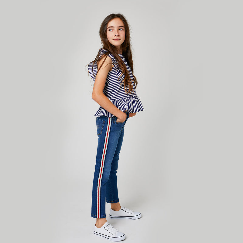 Girls Jeans Sideband Middle Denim