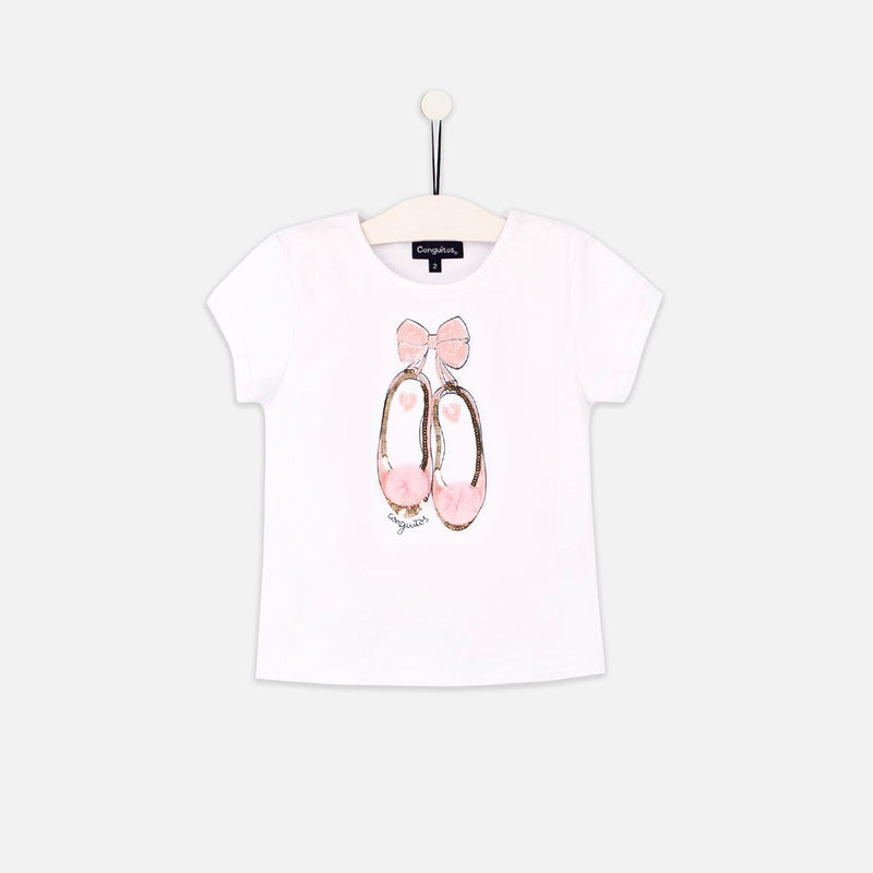 "Girls ""Ballerinas"" White T-Shirt"
