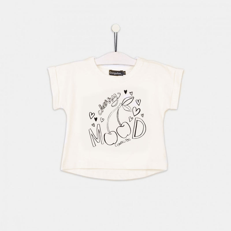 "Girls ""Solar Cherries"" White T-Shirt"