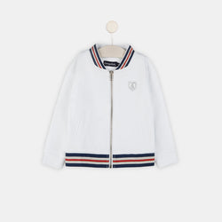 Girls White Bomber Jacket