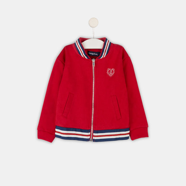 Girls Red Bomber Jacket