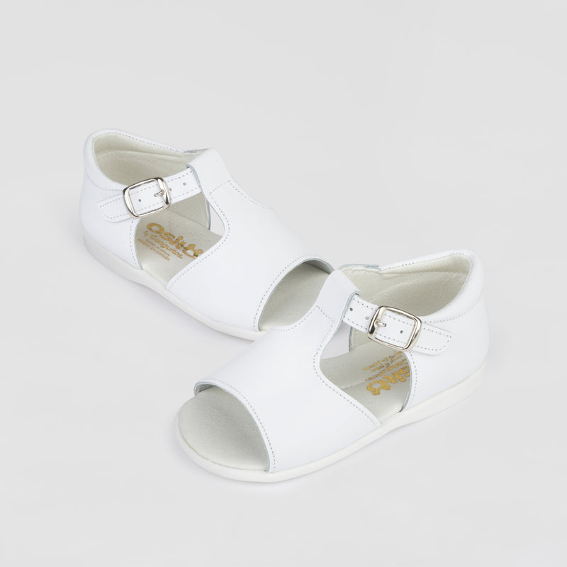 Baby's White Leather Sandals